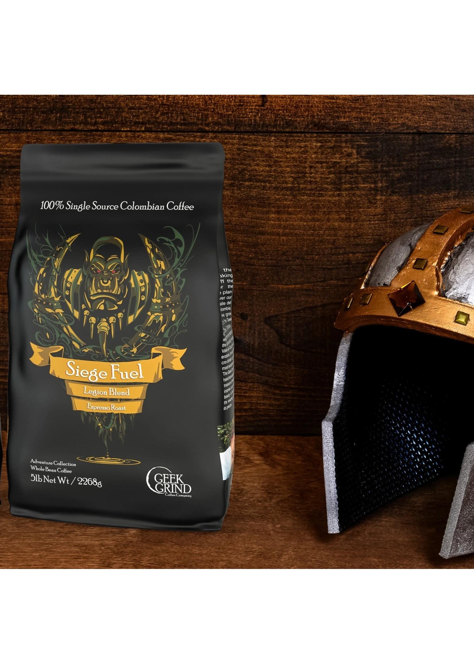 Geek Grind Siege Fuel - Legion Blend - Espresso Roast Coffee - 12 oz. Individual Bag