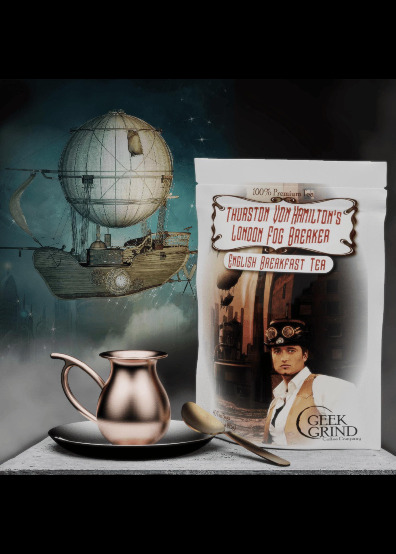 Geek Grind Thurston Von Hamilton's London Fog Breaker - English Breakfast Tea - 40 Tea Bags