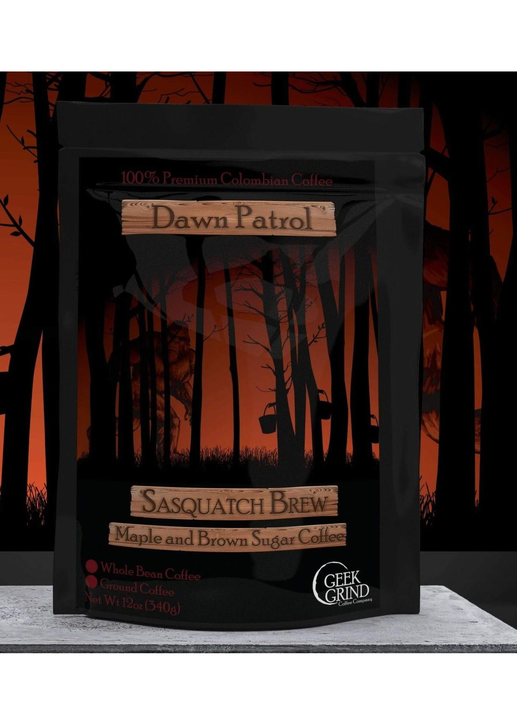 Geek Grind Dawn Patrol - Sasquatch Brew - Maple and Brown Sugar Coffee - 12 oz. / Whole bean