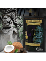 Geek Grind Lost Islands - Legacy of the Mo'o - Dark Chocolate and Coconut Flavor Coffee - 12 oz. Whole Bean