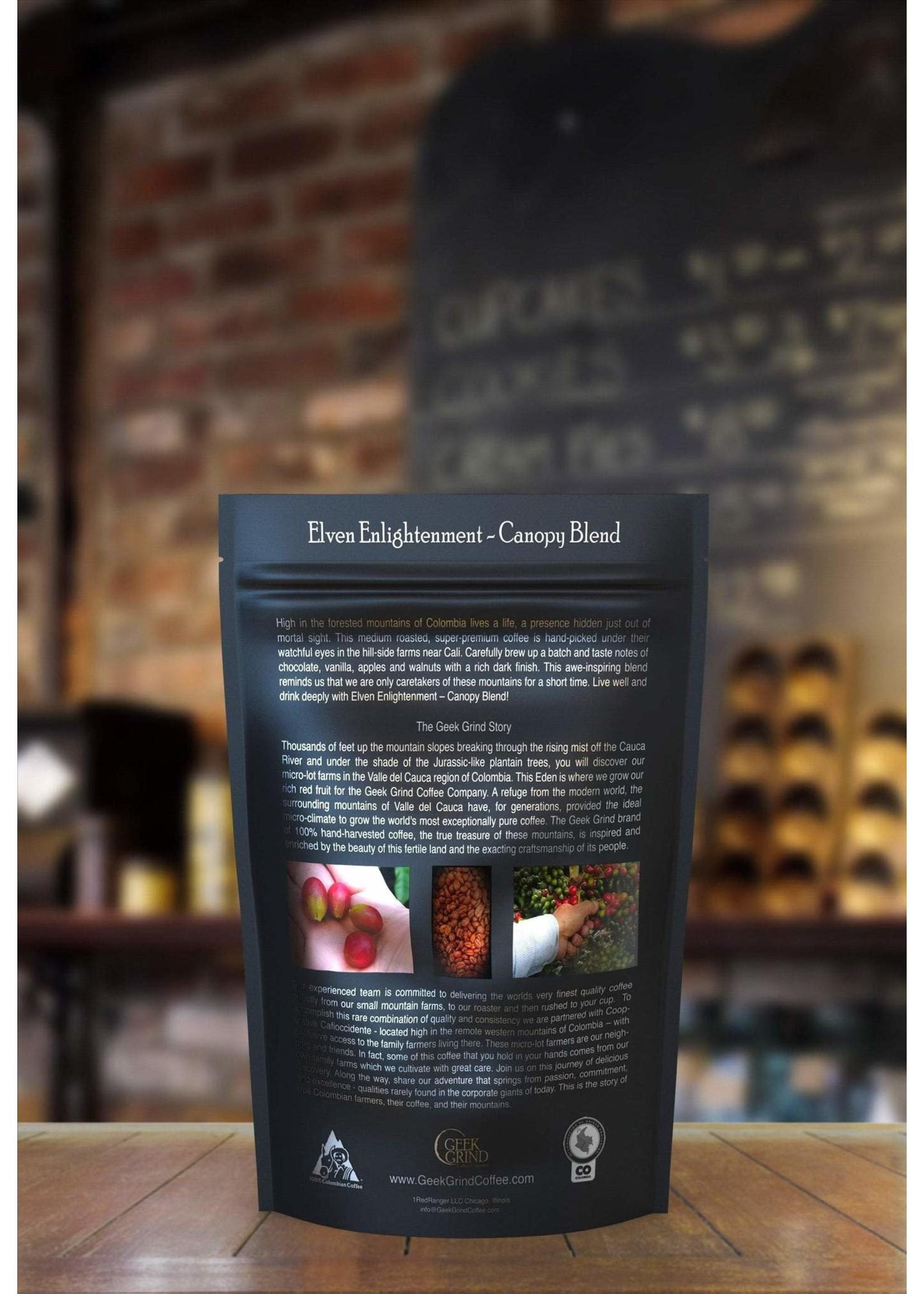 Geek Grind Elven Enlightenment - Canopy Blend - Medium Roast Coffee- 12 oz. Individual Bag