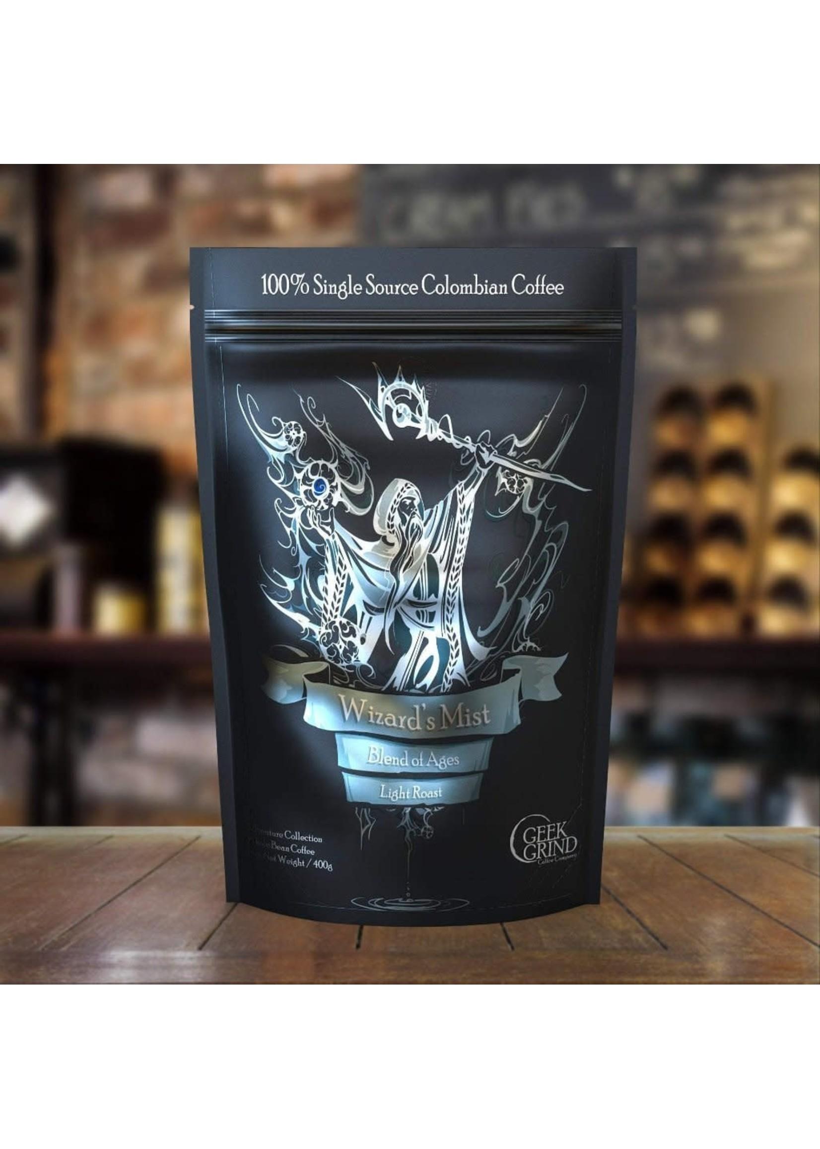 Geek Grind Wizard's Mist - Blend of Ages - Light Roast Coffee- 12 oz. Individual Bag