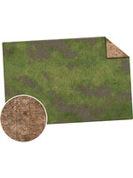 Monster Fight Club Monster Game Mat: 6x4 Gridded - Broken Grassland / Desert Scrubland