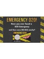 Foam Brain Games Emergency D20 Scratch Card