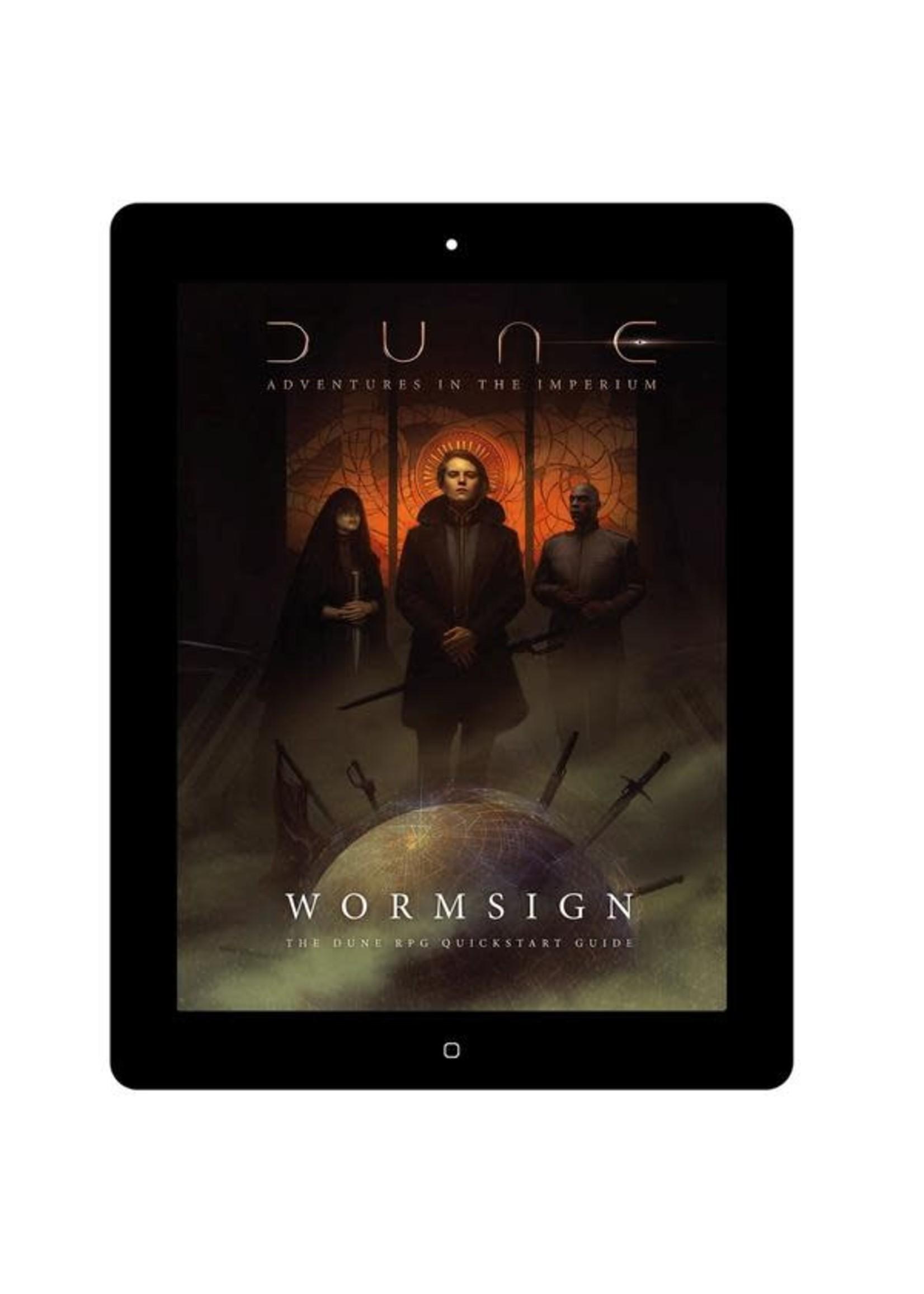 Dune: Adventures in the Imperium Dune: Adventures in the Imperium; Wormsign Quickstart Guide - 3 FRPGD Points