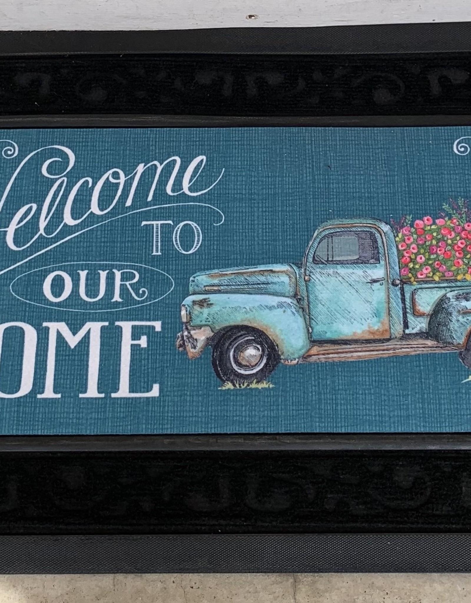 EVERGREEN ENTERPRISES, INC. WELCOME TO OUR HOME FLOWER TRUCK -  DOOR MAT INSERT
