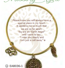 CLOCK IT TO YA EARTH ANGEL BRACELET- MISSING YOU