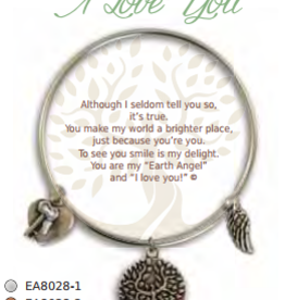 CLOCK IT TO YA EARTH ANGEL BRACELET- I LOVE YOU