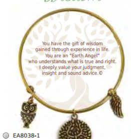 CLOCK IT TO YA EARTH ANGEL BRACELET- WISDOM