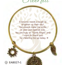 CLOCK IT TO YA EARTH ANGEL BRACELET- CHEERFUL
