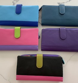 INTERCONTINENTAL LEATHER IND Long RFID Leather Wallet