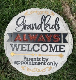 SPOONTIQUES, INC. GRANDKIDS ALWAYS WELCOME STEPPING STONE