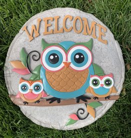 SPOONTIQUES, INC. OWL WELCOME STEPPING STONE