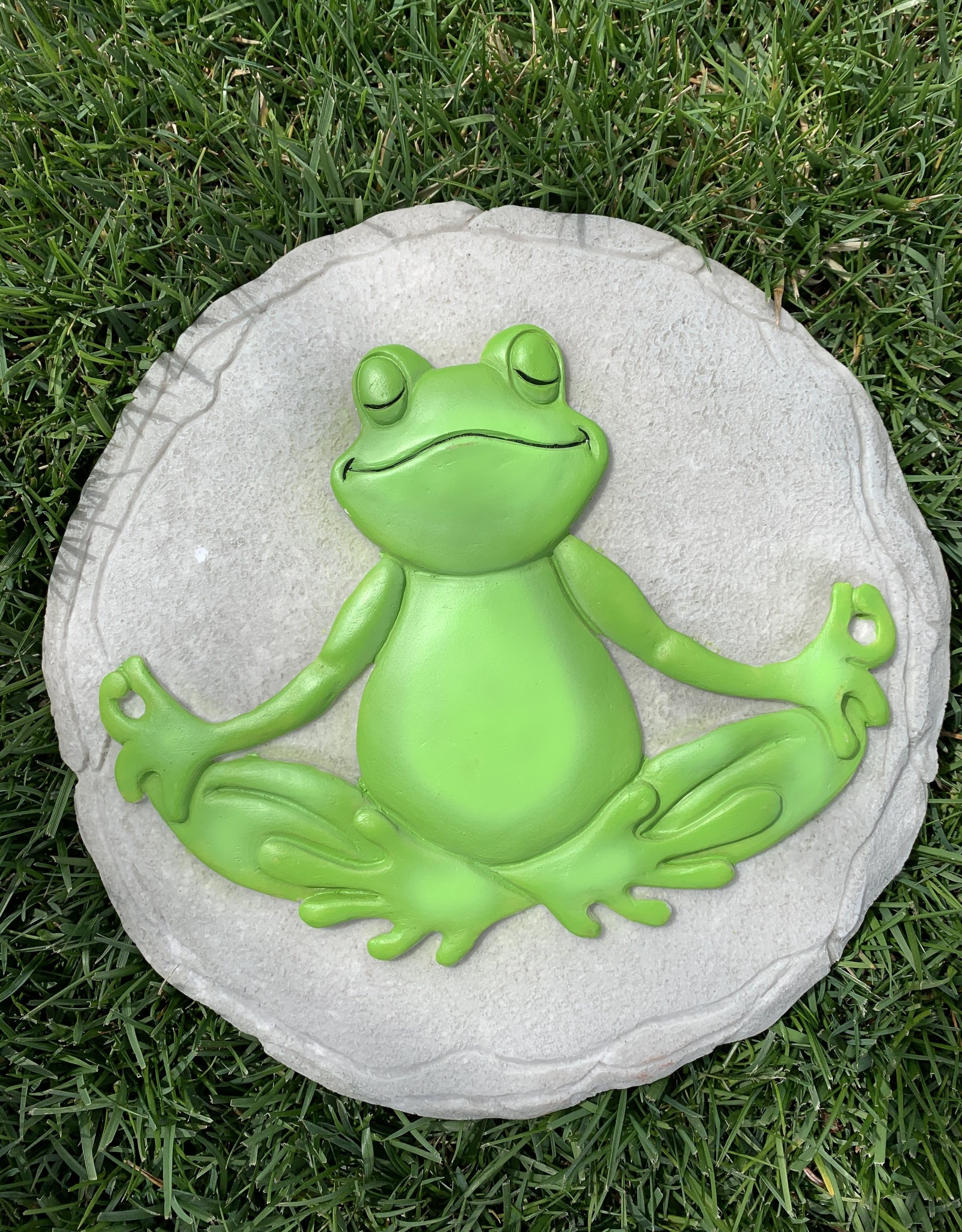 SPOONTIQUES, INC. NAMASTE FROG STEPPING STONE