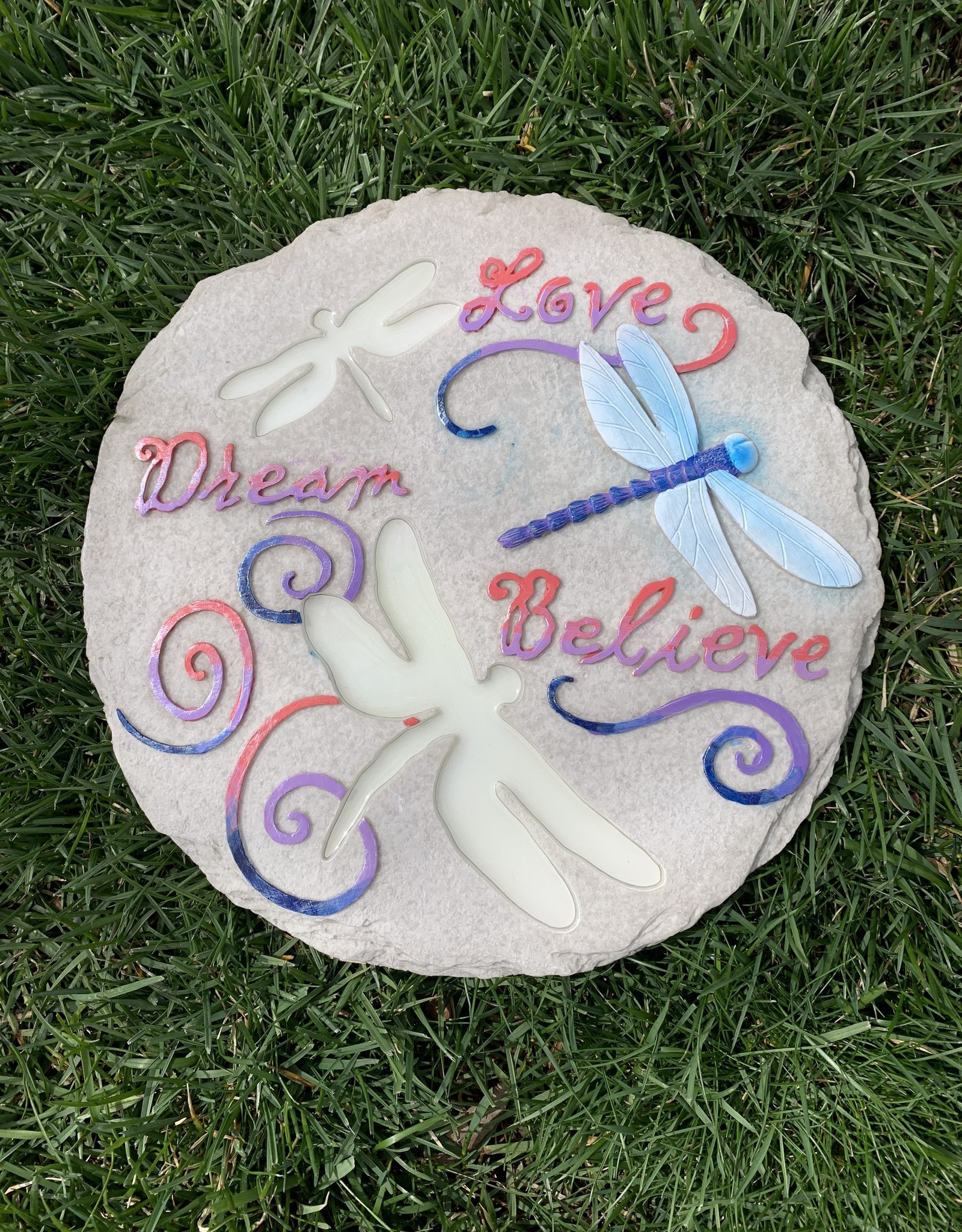 SPOONTIQUES, INC. LOVE, DREAM, BELIEVE STEPPING STONE