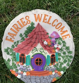 SPOONTIQUES, INC. FAIRIES WELCOME STEPPING STONE