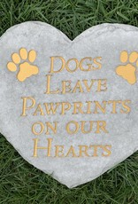 SPOONTIQUES, INC. DOGS LEAVE PAWPRINTS ON OUR HEARTS STEPPING STONE