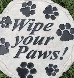 SPOONTIQUES, INC. WIPE YOUR PAWS STEPPING STONE
