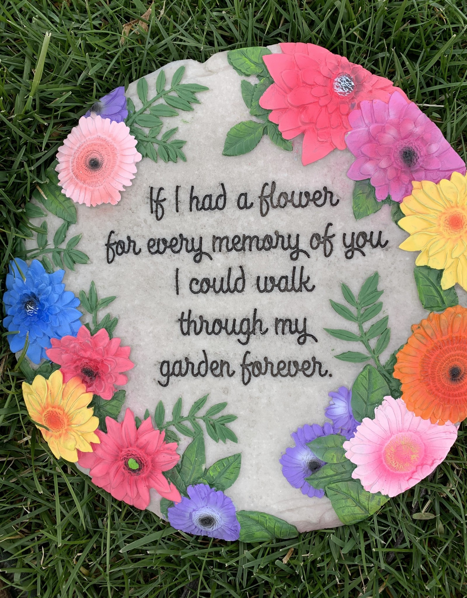 SPOONTIQUES, INC. IF I HAD A FLOWER STEPPING STONE