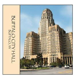 FEEL GOOD GREETINGS INK BUFFALO CITY HALL STONE COASTER
