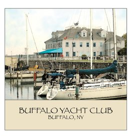 FEEL GOOD GREETINGS INK BUFFALO YACHT CLUB STONE COASTER