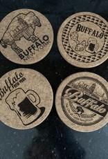 DELUXE LASERWORKS, INC. BEER WITH WING CORK COASTER