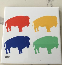 TWIN DESIGNS MULTI COLOR BUFFALO TRIVET
