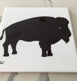 TWIN DESIGNS BLACK BUFFALO TRIVET