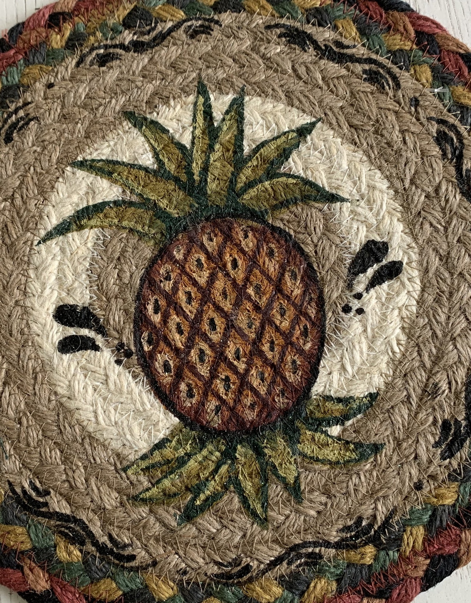 """CAPITOL IMPORTING CO Pineapple 10"""" Woven Trivet"""