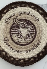CAPITOL IMPORTING CO One Good Cup Deserves Another Woven Trivet