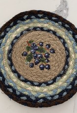 """CAPITOL IMPORTING CO Blueberry Wreath 10"""" Woven Trivet"""