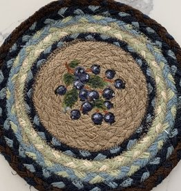 "CAPITOL IMPORTING CO Blueberry Wreath 10"" Woven Trivet"