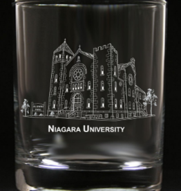 PREDMORE CREATIONS NIAGARA UNIVERSITY ROCK GLASS