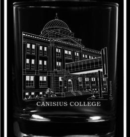PREDMORE CREATIONS CANISIUS COLLEGE ROCK GLASS