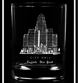 PREDMORE CREATIONS CITY HALL ROCK GLASS