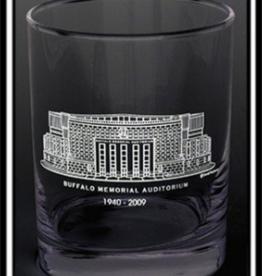 PREDMORE CREATIONS BUFFALO MEMORIAL AUDITORIUM ROCK GLASS