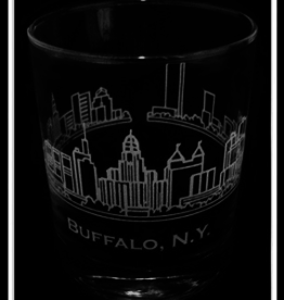 PREDMORE CREATIONS BUFFALO SKYLINE ROCK GLASS