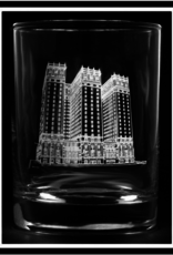 PREDMORE CREATIONS STATLER TOWERS ROCK GLASS
