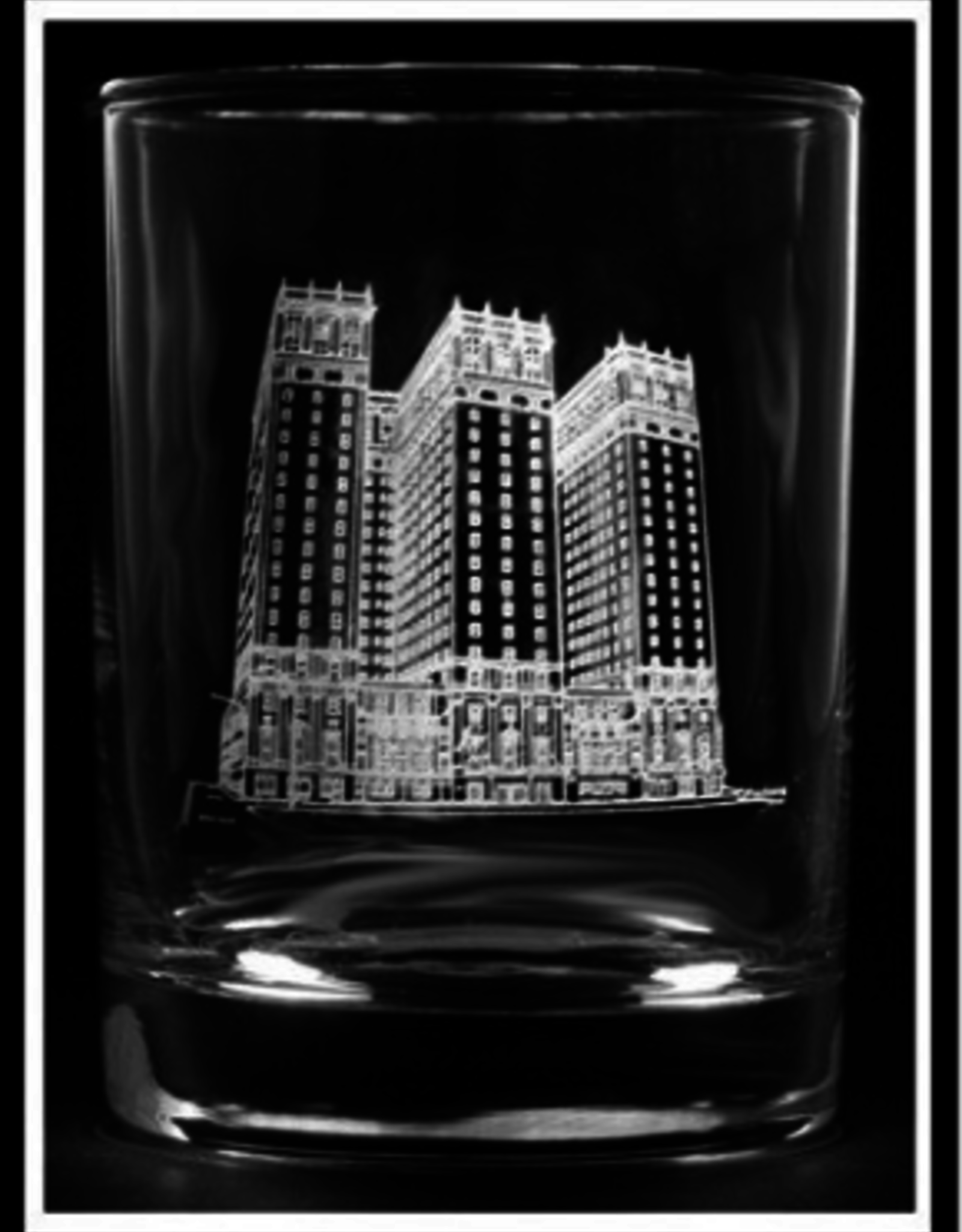 STATLER TOWERS ROCK GLASS