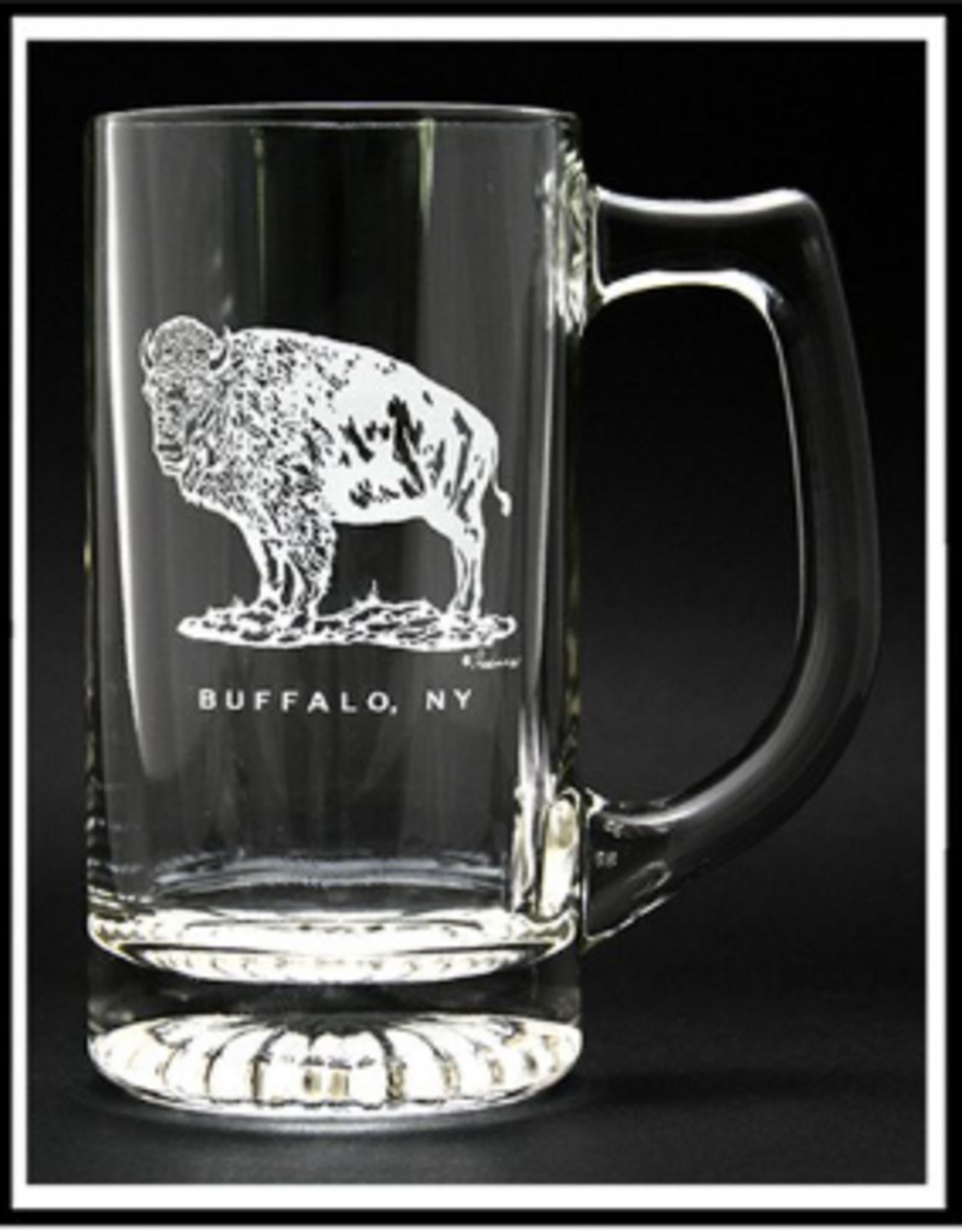 PREDMORE CREATIONS STANDING BUFFALO BEER STEIN