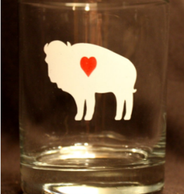 BUFFALO LOVE ROCK GLASS