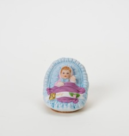 ENESCO BLONDE BABY IN CRADLE