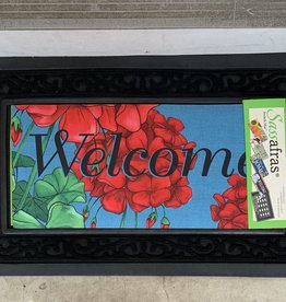 EVERGREEN ENTERPRISES, INC. GERANIUM WELCOME DOOR MAT INSERT