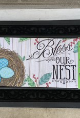 EVERGREEN ENTERPRISES, INC. BLESS OUR NEST -  DOOR MAT INSERT