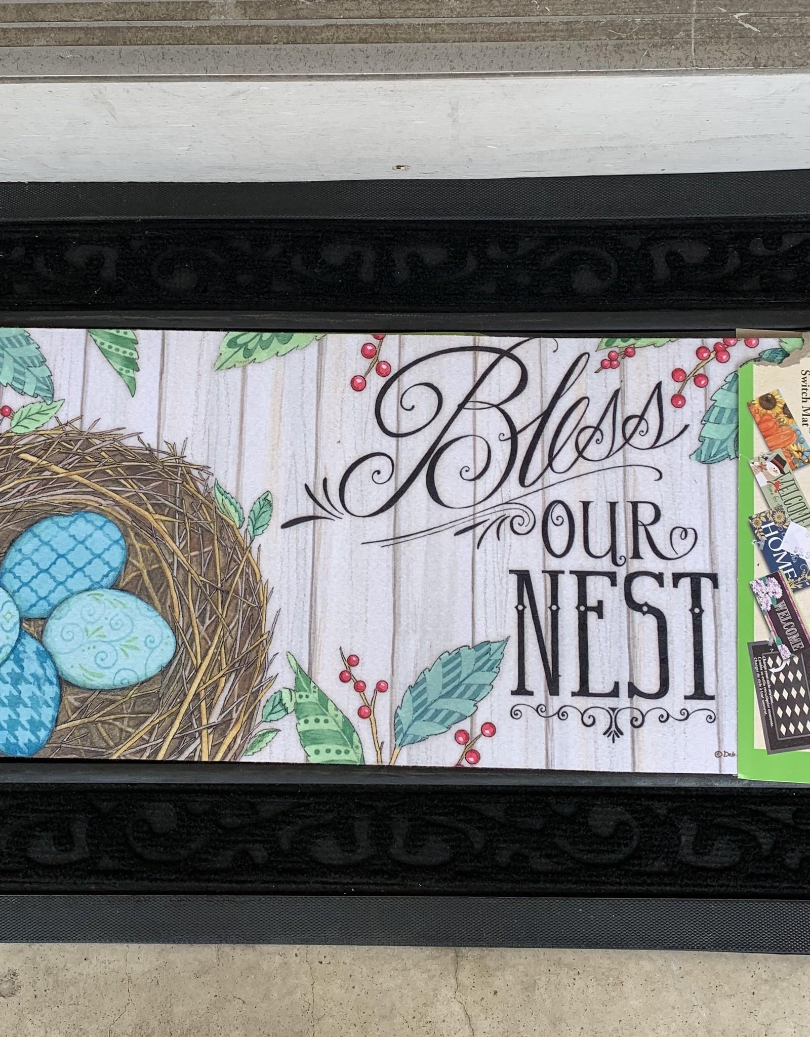 EVERGREEN ENTERPRISES, INC. BLESS OUR NEST -  DOOR MAT INSERT