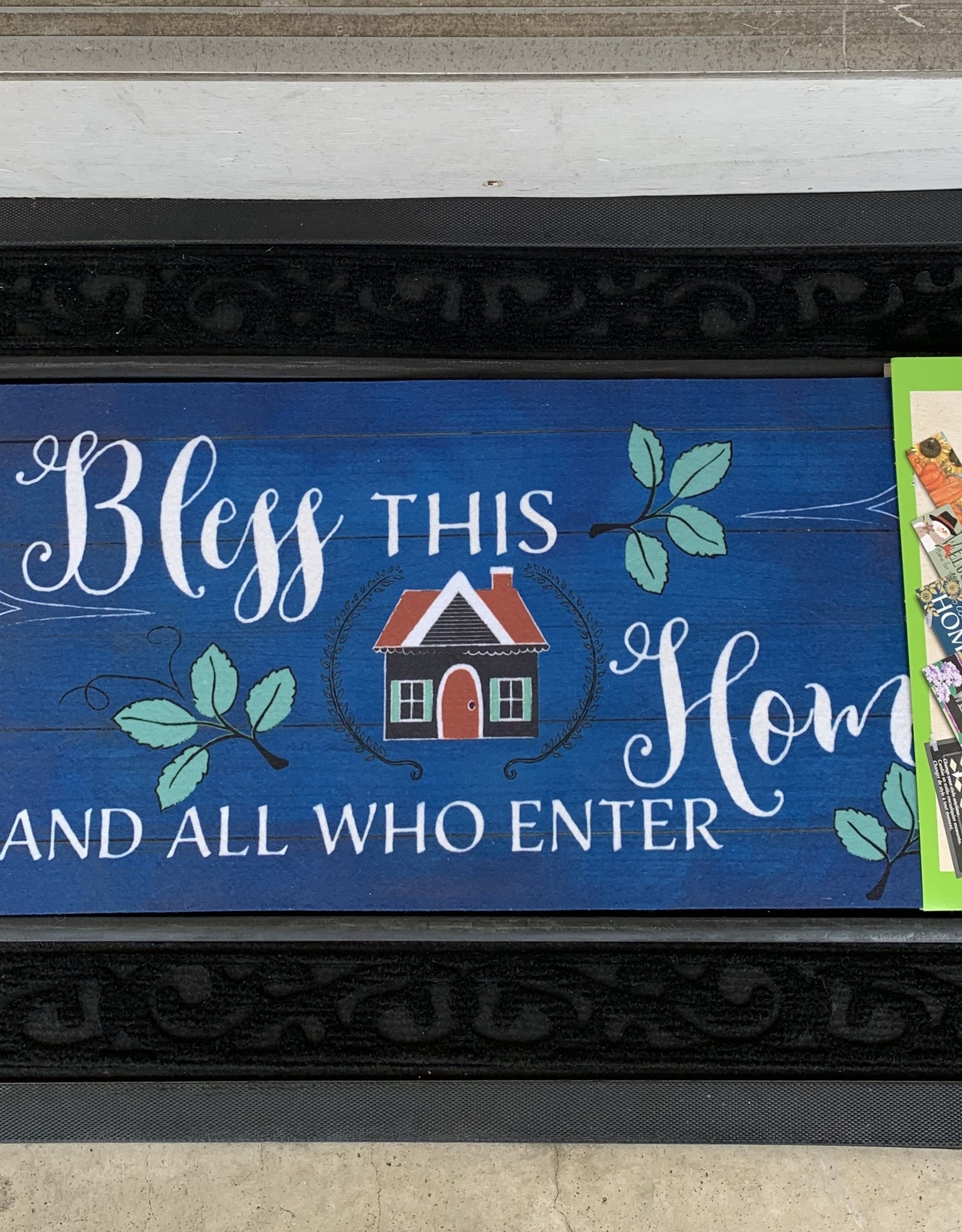 EVERGREEN ENTERPRISES, INC. BLESS THIS HOME AND ALL WHO ENTER - DOOR MAT INSERT
