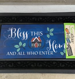 EVERGREEN ENTERPRISES, INC. BLESS THIS HOME DOOR MAT INSERT