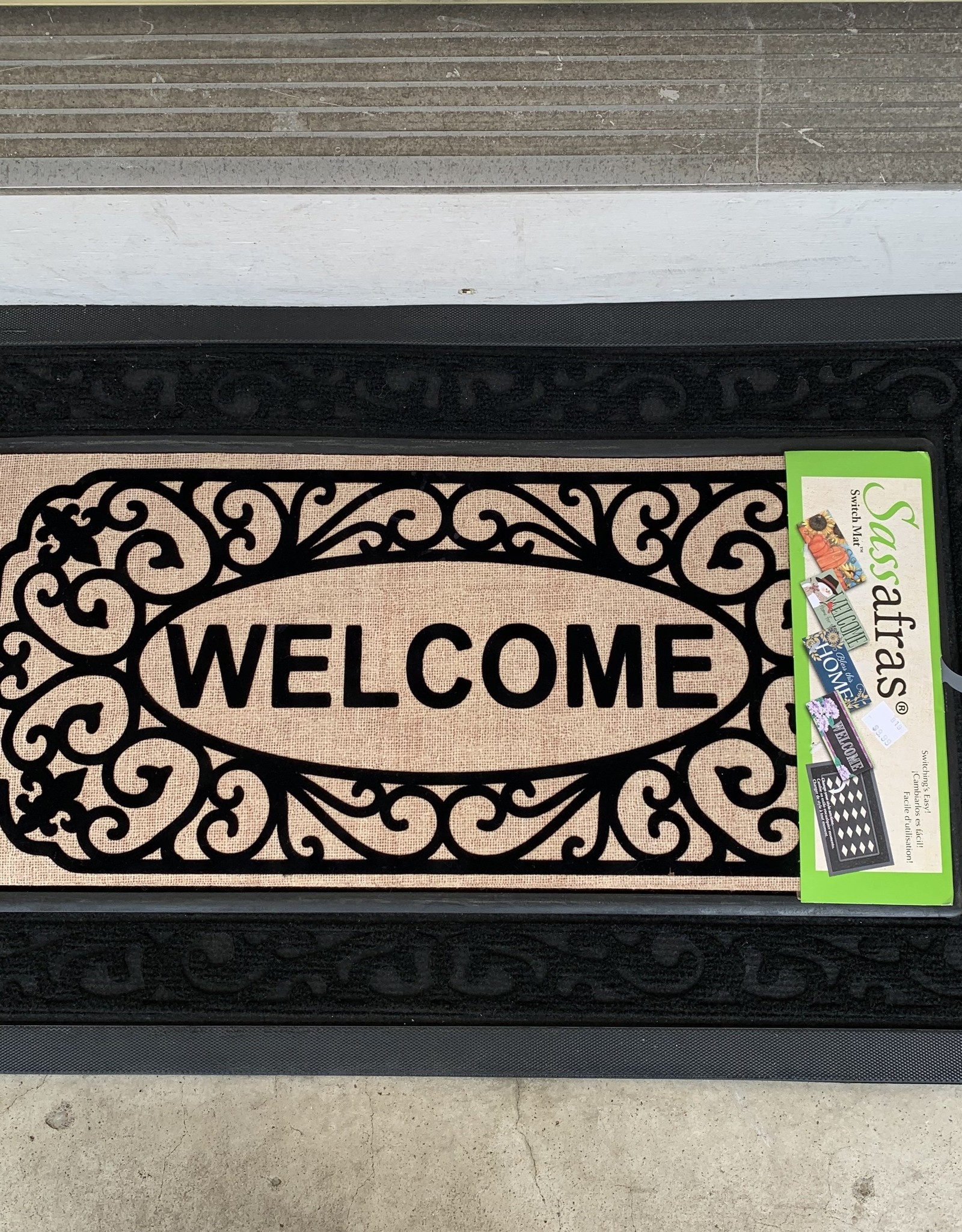 EVERGREEN ENTERPRISES, INC. BLACK SCROLL WELCOME -  DOOR MAT INSERT