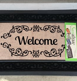 EVERGREEN ENTERPRISES, INC. BLACK SCROLL WELCOME DOOR MAT INSERT