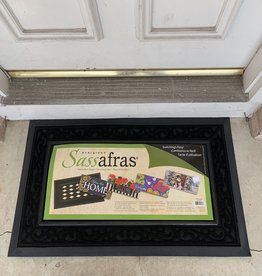EVERGREEN ENTERPRISES, INC. BLACK IMPRINTED SCROLL SASSAFRAS DOOR MAT